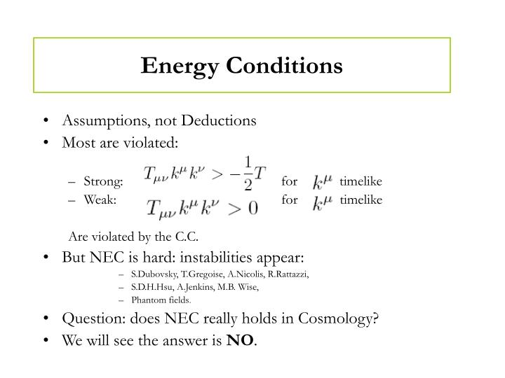 Energy Conditions