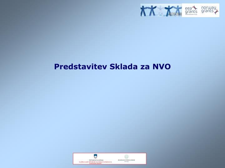 Predstavitev Sklada za NVO