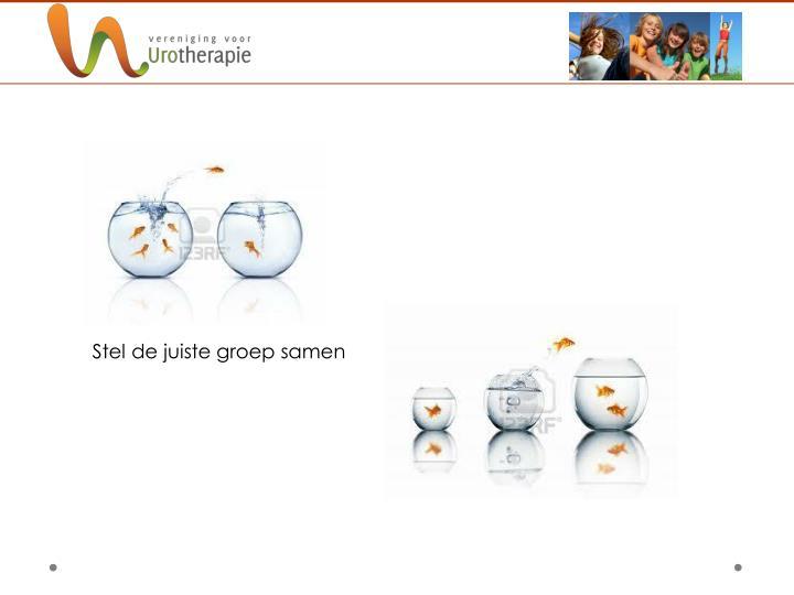 Stel de juiste groep samen