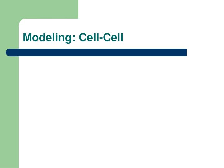 Modeling: Cell-Cell