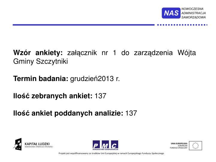 Wzór ankiety: