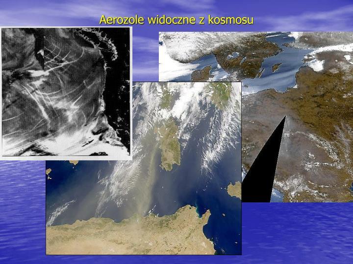 Aerozole widoczne z kosmosu
