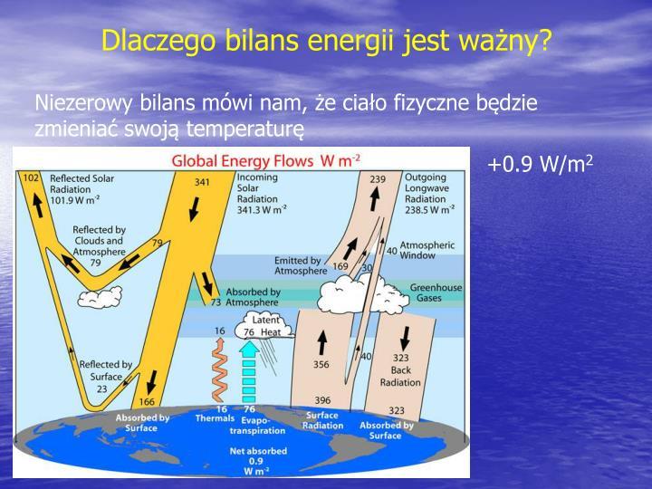 Dlaczego bilans energii jest ważny?