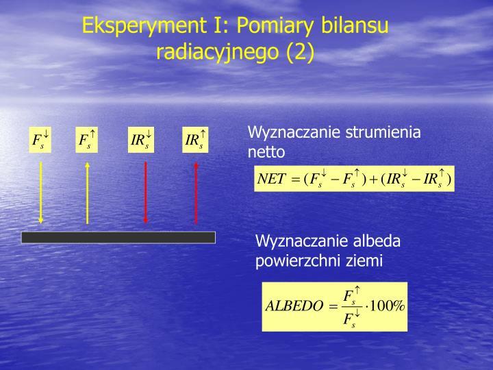 Eksperyment I: Pomiary bilansu radiacyjnego (2)