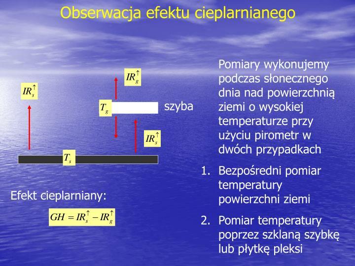 Obserwacja efektu cieplarnianego