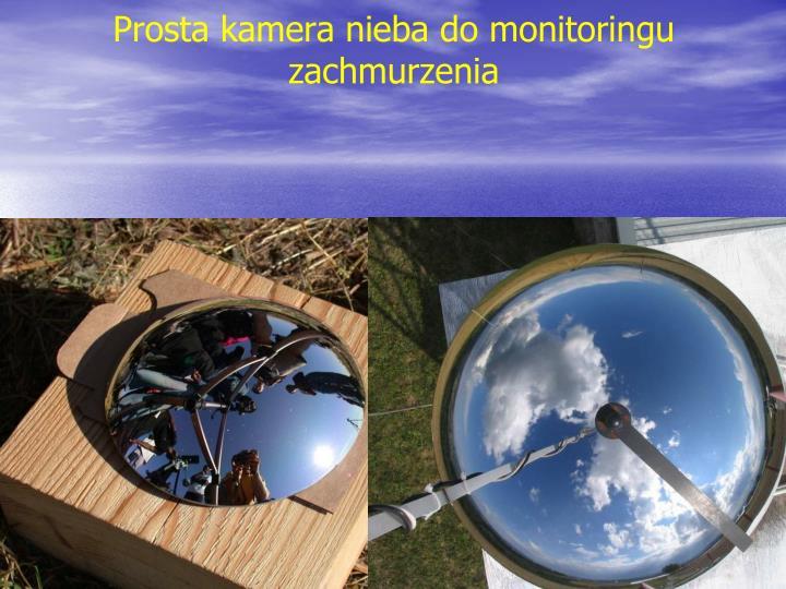 Prosta kamera nieba do monitoringu zachmurzenia