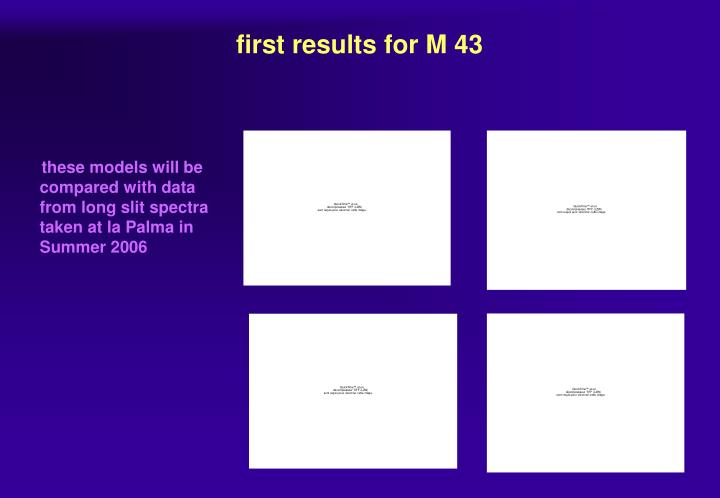 first results for M 43