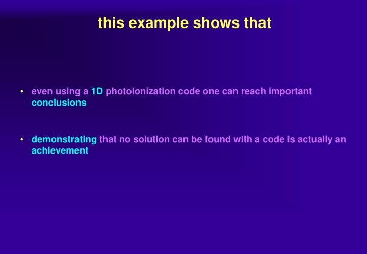 this example shows that