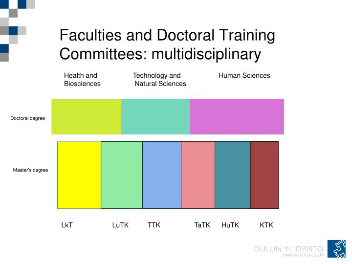 Faculties and Doctoral Training Committees: multidisciplinary