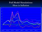 full model simulations here is inflation