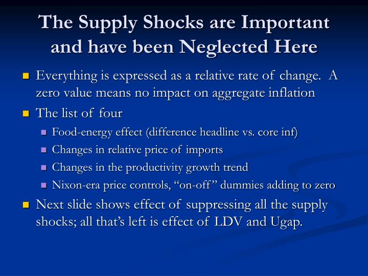 The Supply Shocks are Important