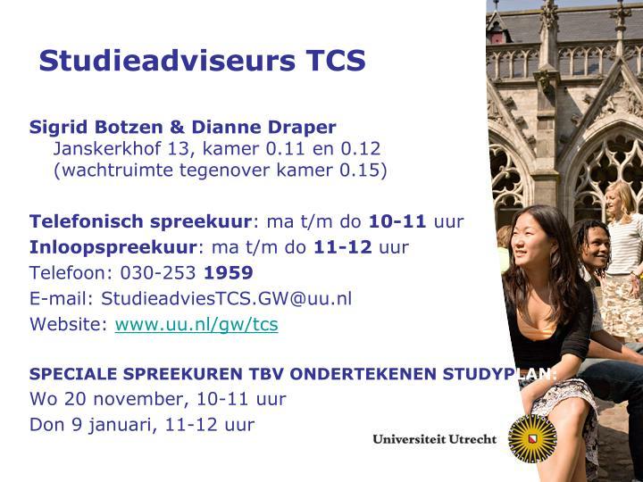 Studieadviseurs TCS