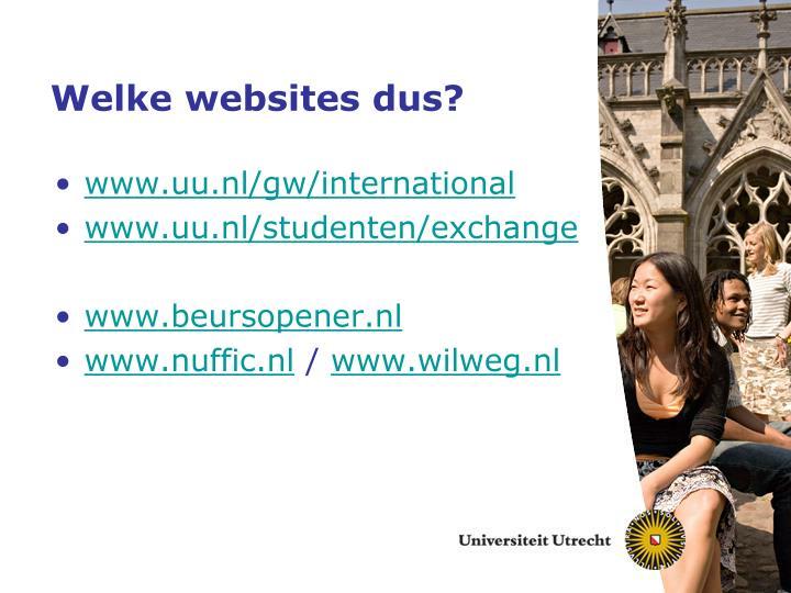 Welke websites dus?