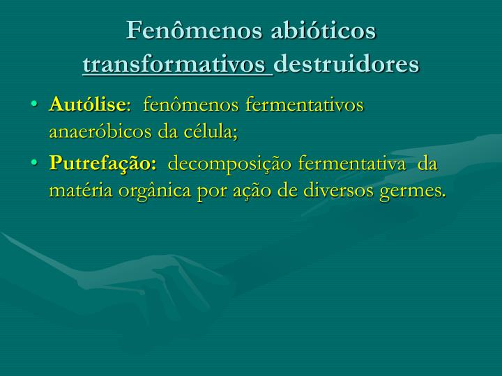 Fenômenos abióticos