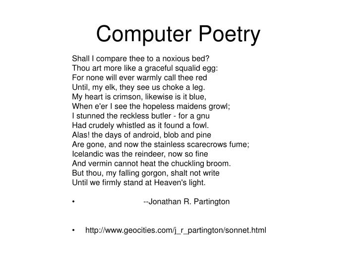 Computer Poetry