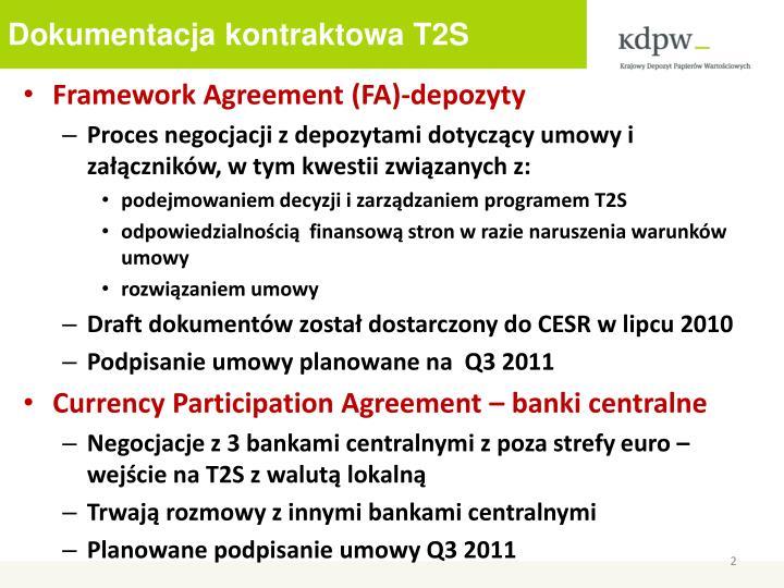 Dokumentacja kontraktowa T2S
