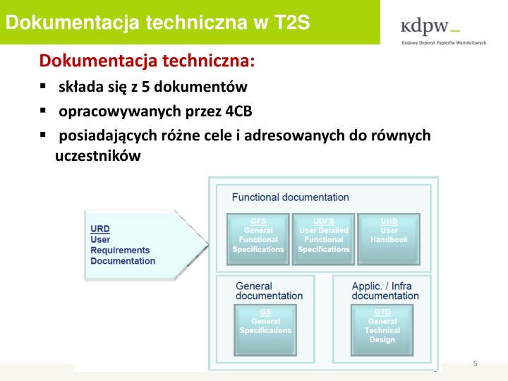 Dokumentacja techniczna w T2S