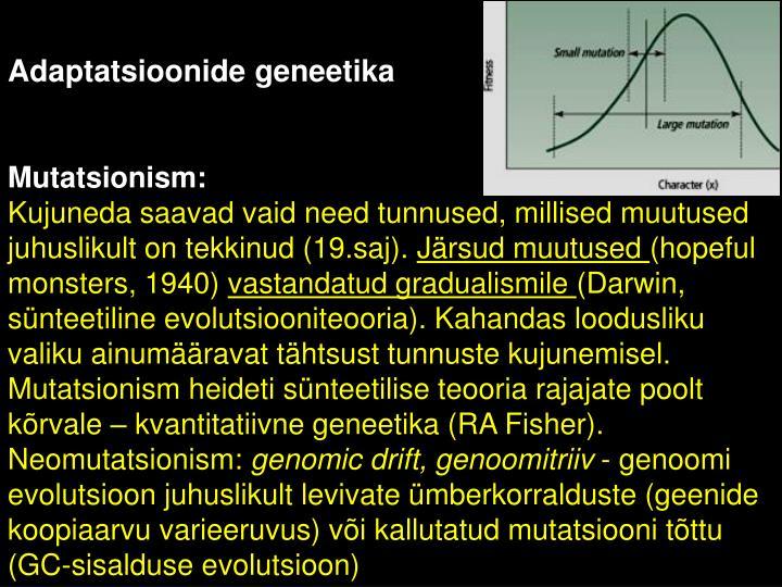 Adaptatsioonide geneetika