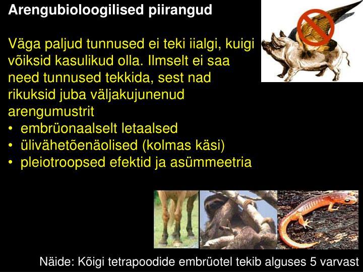 Arengubioloogilised piirangud