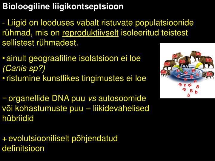 Bioloogiline liigikontseptsioon