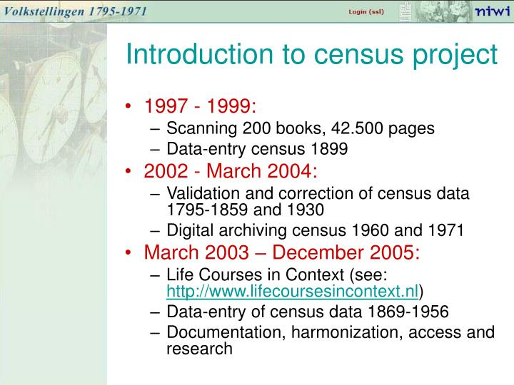 Introduction to census project