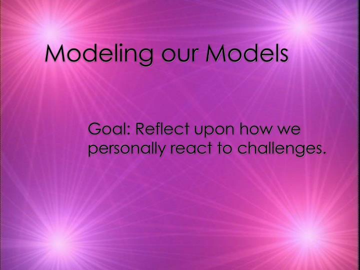 Modeling our Models
