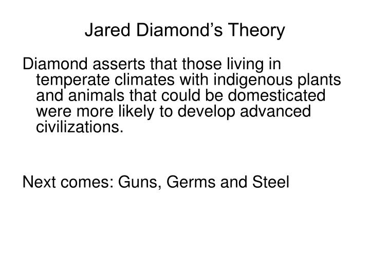 Jared Diamond's Theory