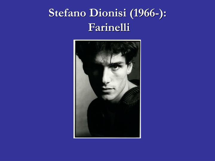 Stefano Dionisi (1966-):