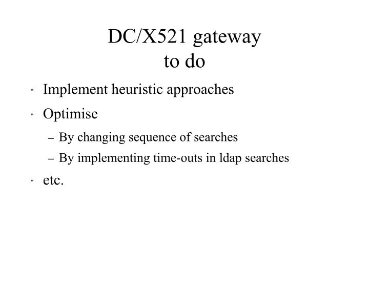 DC/X521 gateway