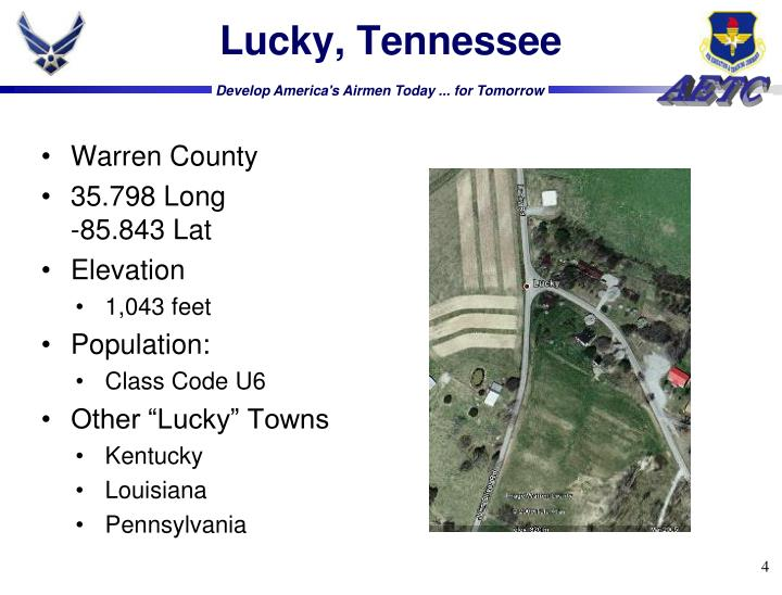 Lucky, Tennessee