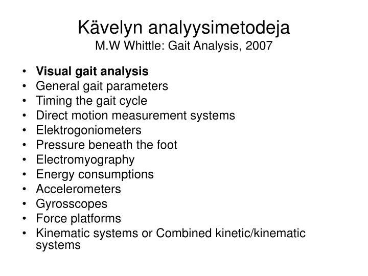 Kävelyn analyysimetodeja