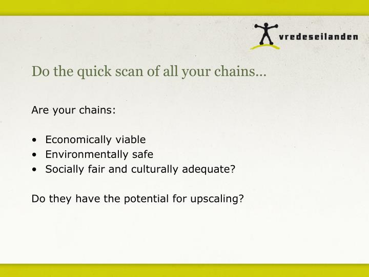 Do the quick scan of all your chains…