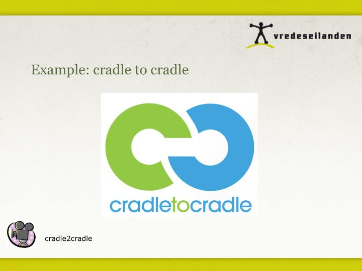 Example: cradle to cradle