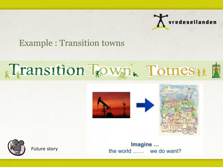 Example : Transition towns