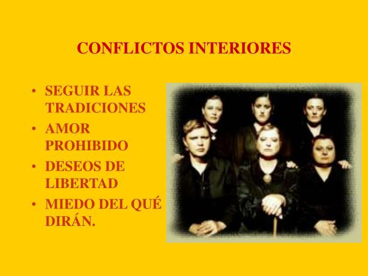 CONFLICTOS INTERIORES