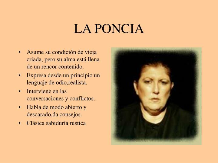 LA PONCIA