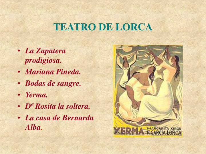 TEATRO DE LORCA