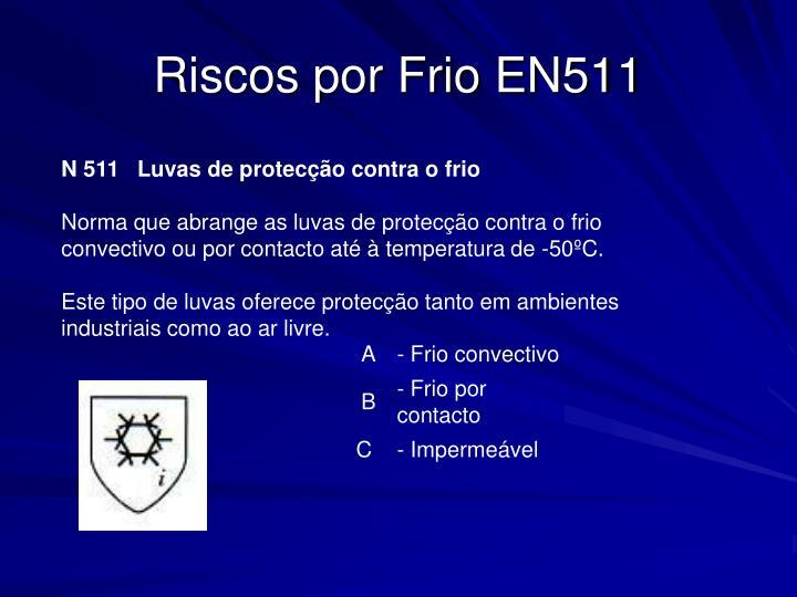 Riscos por Frio EN511