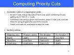 computing priority cuts