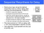 sequential resynthesis for delay
