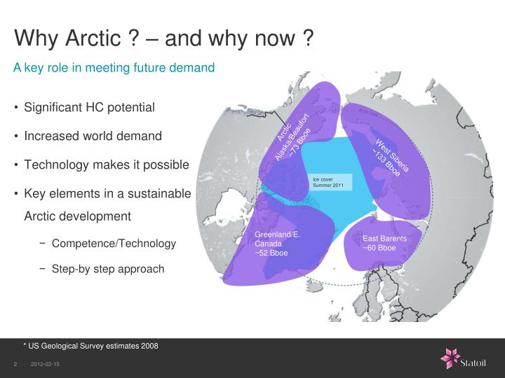 Why arctic and why now
