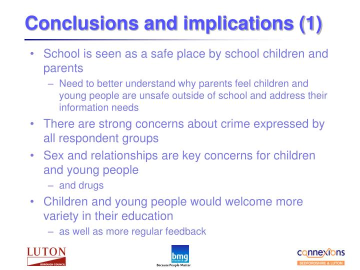 Conclusions and implications (1)