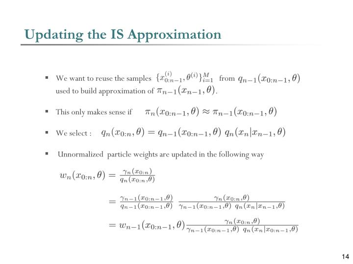 Updating the IS Approximation