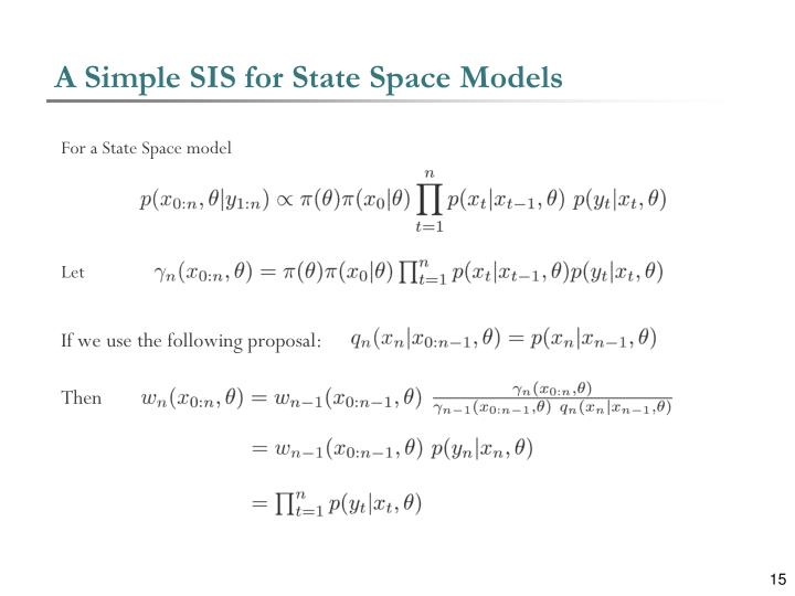 A Simple SIS for State Space Models
