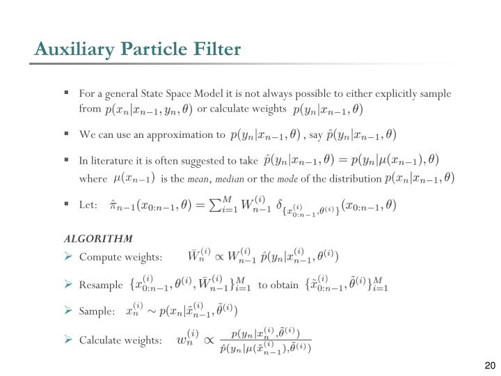 Auxiliary Particle Filter