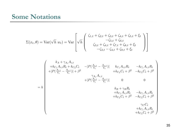 Some Notations