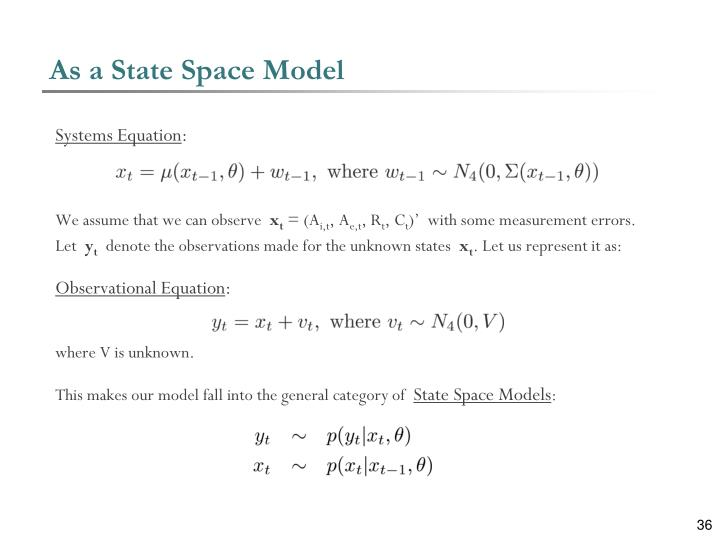 As a State Space Model