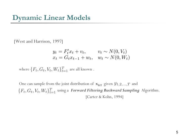 Dynamic Linear Models