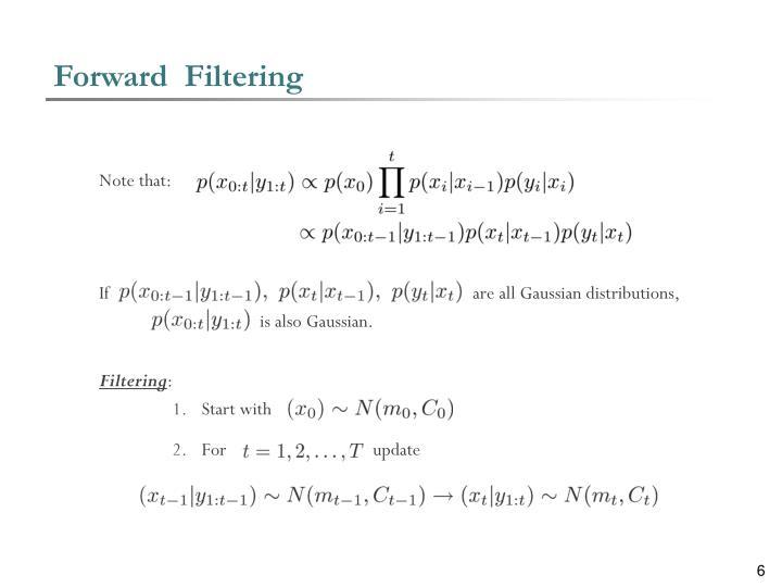 Forward  Filtering