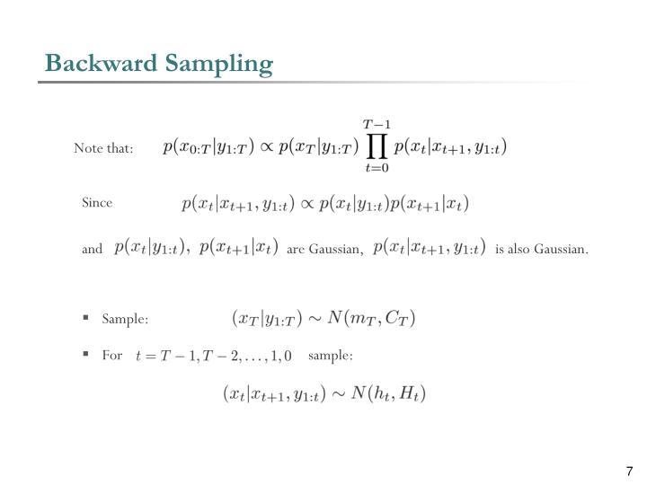 Backward Sampling